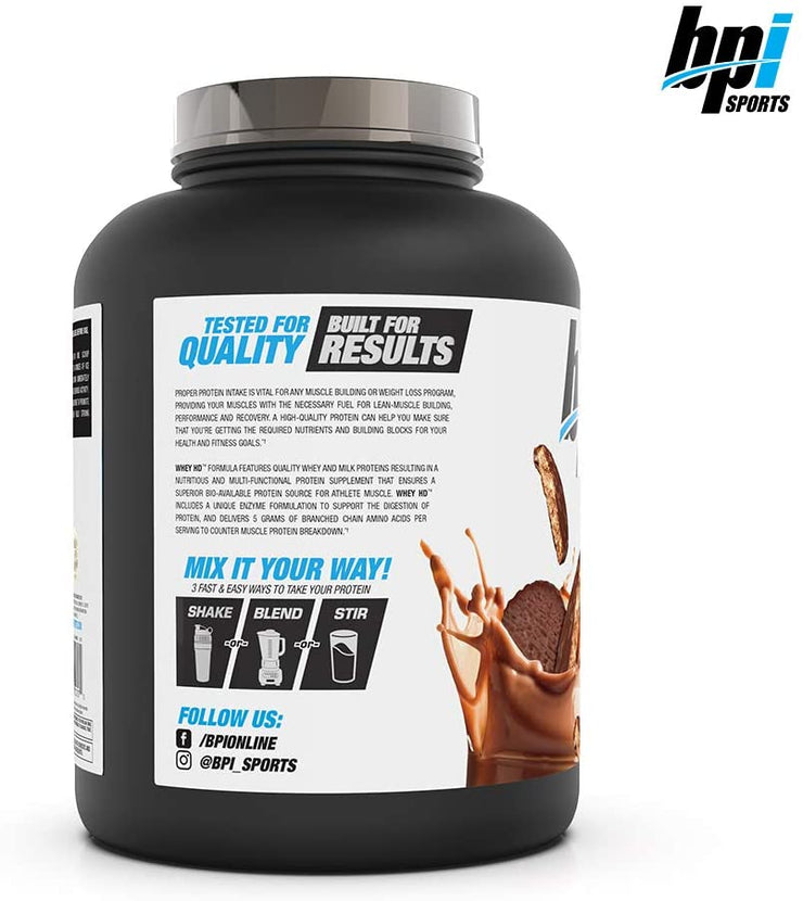 BPI Sports, Whey HD, Chocolate Cookie, 4.2 lbs (1,900 g)