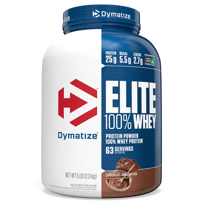 Dymatize Nutrition, Elite, 100% Whey Protein Powder, Chocolate Cake Batter, 5 lbs (2.3 kg)