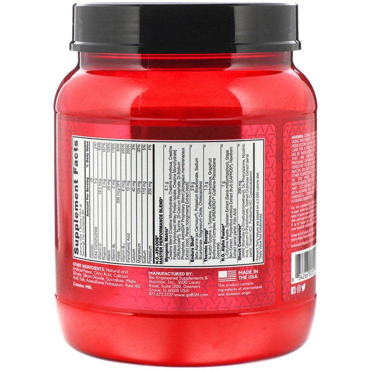 BSN, N.O.-Xplode, Legendary Pre-Workout, Fruit Punch, 2.45 lbs (1.11 kg)