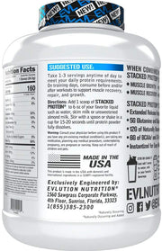 Evlution Nutrition, Stacked Protein, DOUBLE RICH CHOCOLATE, 5 LB (2.26 KG)