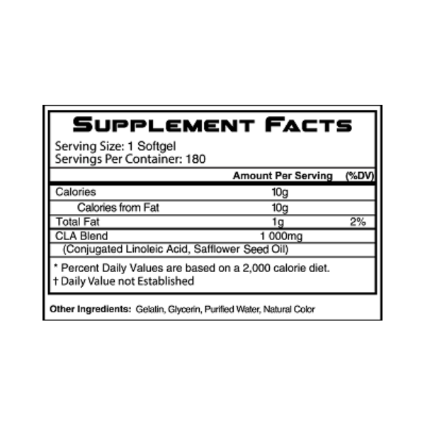 RSP NUTRITION, CLA 1000 MG 180 SOFTGELS CAPSULES