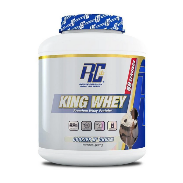 Ronnie Coleman, King Whey, COOKIES Nّ  CREAM, 5lb (2.27 KG)