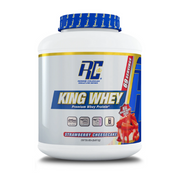 RONNIE COLEMAN, KING WHEY, STRAWBERRY CHEESECAKE, 5LB (2.27 KG)