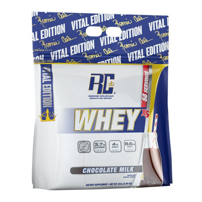 RONNIE COLEMAN, WHEY XS BAG, CHOCOLATE MILK, 5LB (2.26 KG)