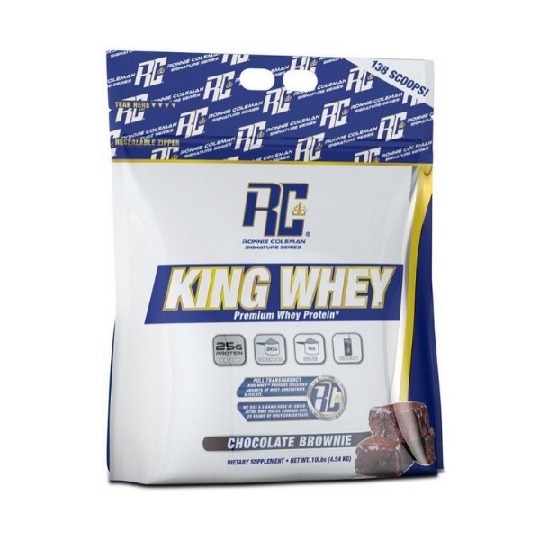 RONNIE COLEMAN, KING WHEY, CHOCOLATE BROWNIE, 10 LB (4.54 KG)
