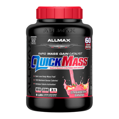 ALLMAX Nutrition, Quick Mass, Rapid Mass Gain Catalyst, Strawberry-Banana