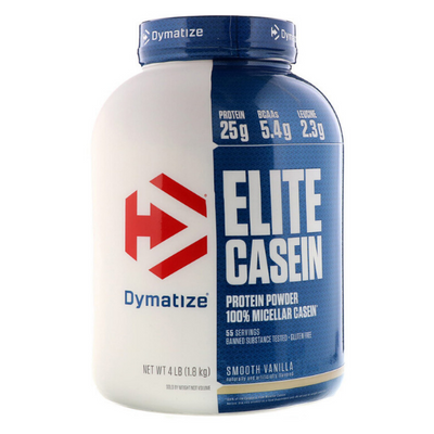Dymatize Nutrition, Elite Casein, Smooth Vanilla, 4 lb (1.8 kg)