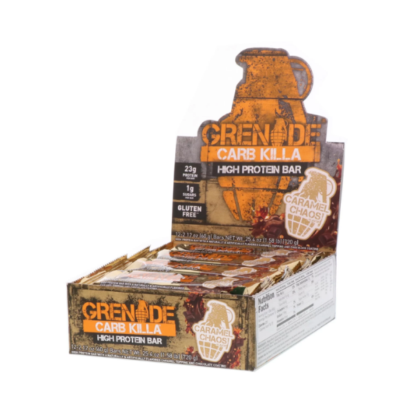 Grenade, Carb Killa High Protein Bar, Caramel Chaos, 12 Bars, 2.12 oz (60 g) Each