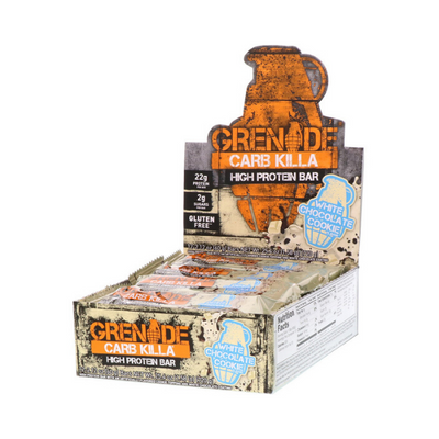 Grenade, Carb Killa High Protein Bar, White Chocolate Cookie, 12 Bars, 2.12 oz (60 g) Each