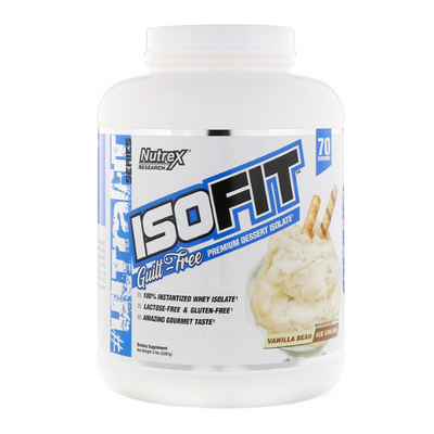 Nutrex Research, IsoFit, Vanilla Bean Ice Cream, 5 lbs (2.261 KG)