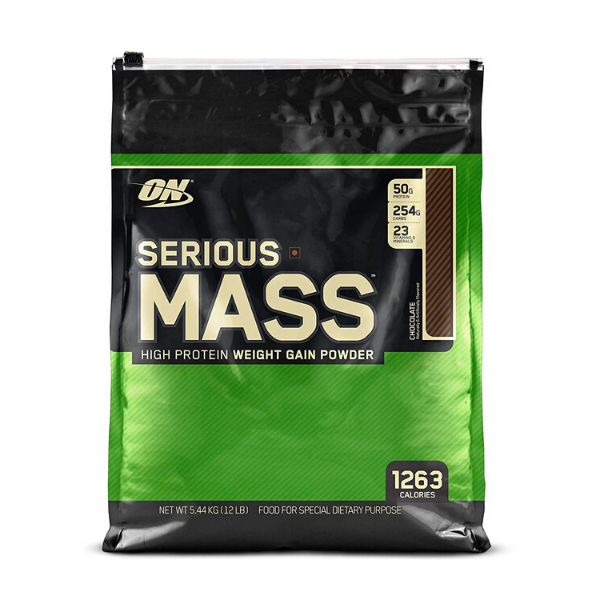 Optimum Nutrition, Serious Mass, High Protein Weight Gain Powder, Chocolate, 12 lbs (5.44 kg)
