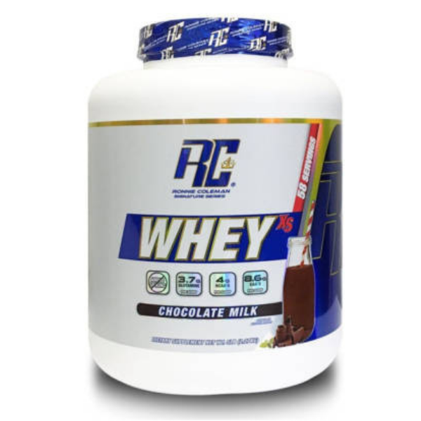 RONNIE COLEMAN, WHEY XS, CHOCOLATE MILK, 5LB (2.27 KG)