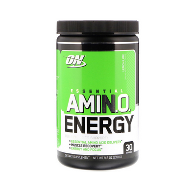 Optimum Nutrition, ESSENTIAL AMIN.O. ENERGY, Lemon Lime, 9.5 oz (270 g)