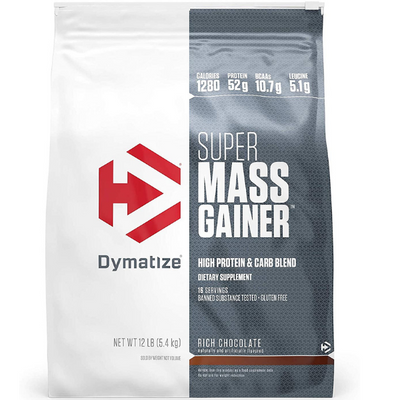 Dymatize Nutrition, Super Mass Gainer, Rich Chocolate, 12 lbs (5.4 KG)