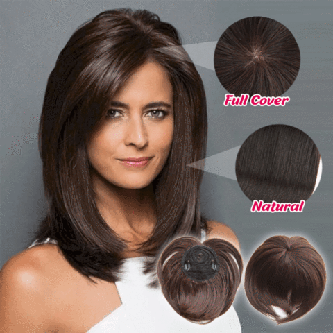 SILKY CLIP-ON HAIR TOPPER (18 colours) - Broadwaytrending Shop