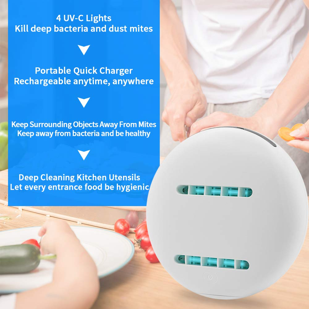 Bacteria Killing Robot Ultra Violet Light sanitizer for Home and Travel - Broadwaytrending Shop