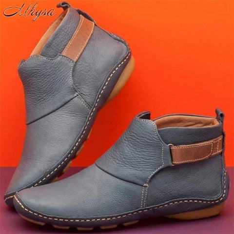 Comfy Daily Adjustable Soft Leather Booties - Broadwaytrends shop