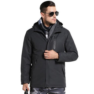 Winter Thick USB Heating Cotton Waterproof Jacket - Broadwaytrending Shop