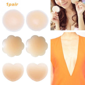 Solid Color Breast Lifting Adhesive Bra - Broadwaytrending Shop