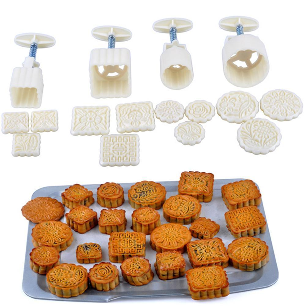 Cookie Press Moon Cake Mold 16Pcs - Broadwaytrends shop