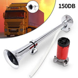 150 DB TRAIN HORN WITH AIR COMPRESSOR - Broadwaytrending Shop
