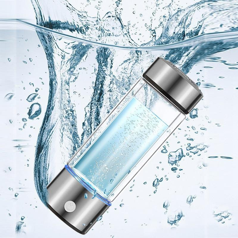 Hydrogen Water Bottle Generator - New Tech Glass Water Ionizer - Broadwaytrending Shop