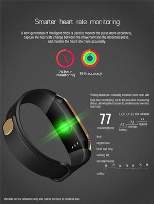 SMART BAND WATERPROOF BLOOD PRESSURE - MONITORING HEALTH IN REAL TIME - Broadwaytrending Shop