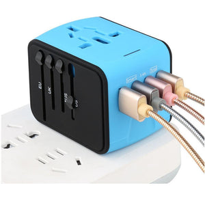 Universal USB Travel Power Adapter - Broadwaytrending Shop