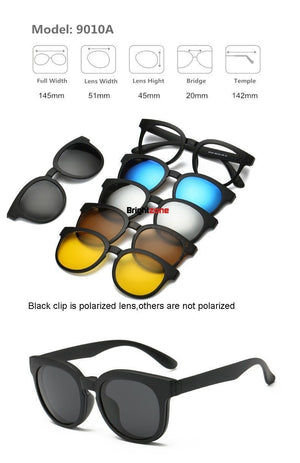 MYS21™️ 5 in 1 Swappable Sunglasses - Broadwaytrending Shop