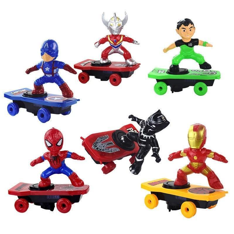 Scooter Electric Car Stunt Music led Light Toys SpiderMan Black Panther Iron Man Captain America - Broadwaytrending Shop