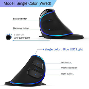 RSI-PROOF RGB VERTICAL MOUSE - Broadwaytrending Shop