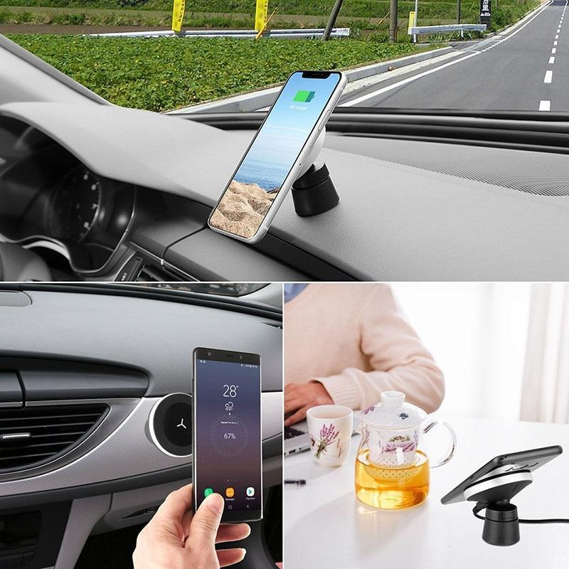 WIRELESS CHARGER HOLDER MAGNETIC - 360 DEGREE CAR QI - Broadwaytrending Shop
