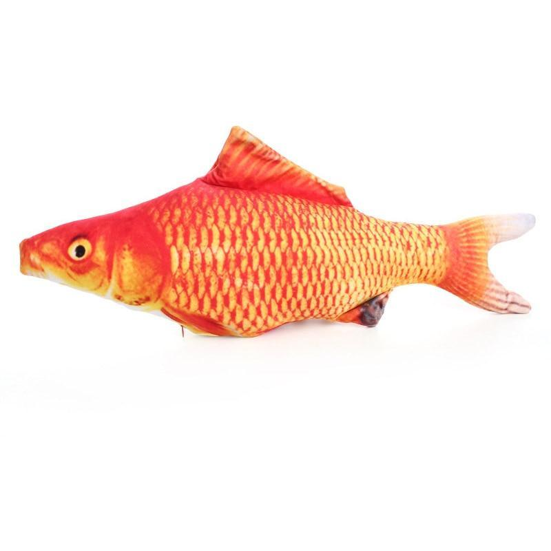 Cat Wagging Fish Realistic Plush - Broadwaytrends shop