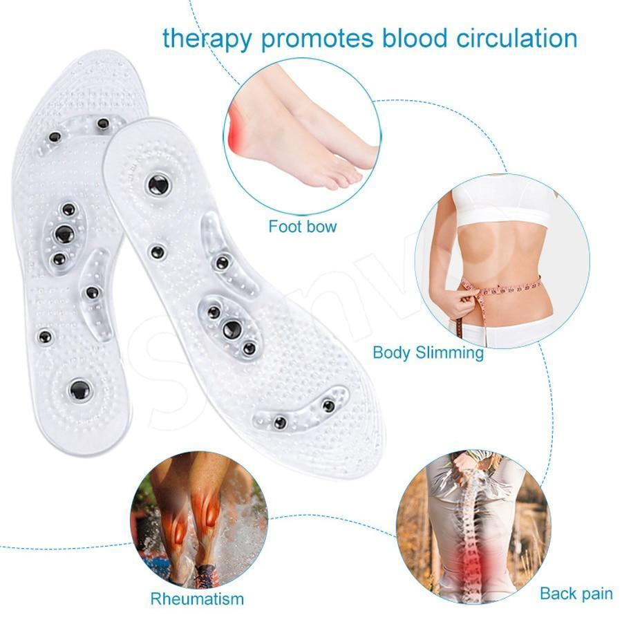 2 PAIR OF MAGNETIC MASSAGE INSOLE - MASSAGING YOUR FOOT TO BETTER HEALTH - Broadwaytrending Shop