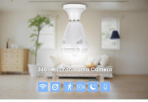360° Panoramic 1080P IR Camera Light Bulb Wifi Fisheye CCTV Security Camera - Broadwaytrends shop