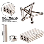 Magnet Construction Set Magnetic Bar and Balls 222 Bucky Ball Puzzle Stacking Game Sculpture Desk Toys - Broadwaytrending Shop