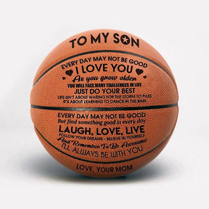 Engraved Basketball - Broadwaytrending Shop