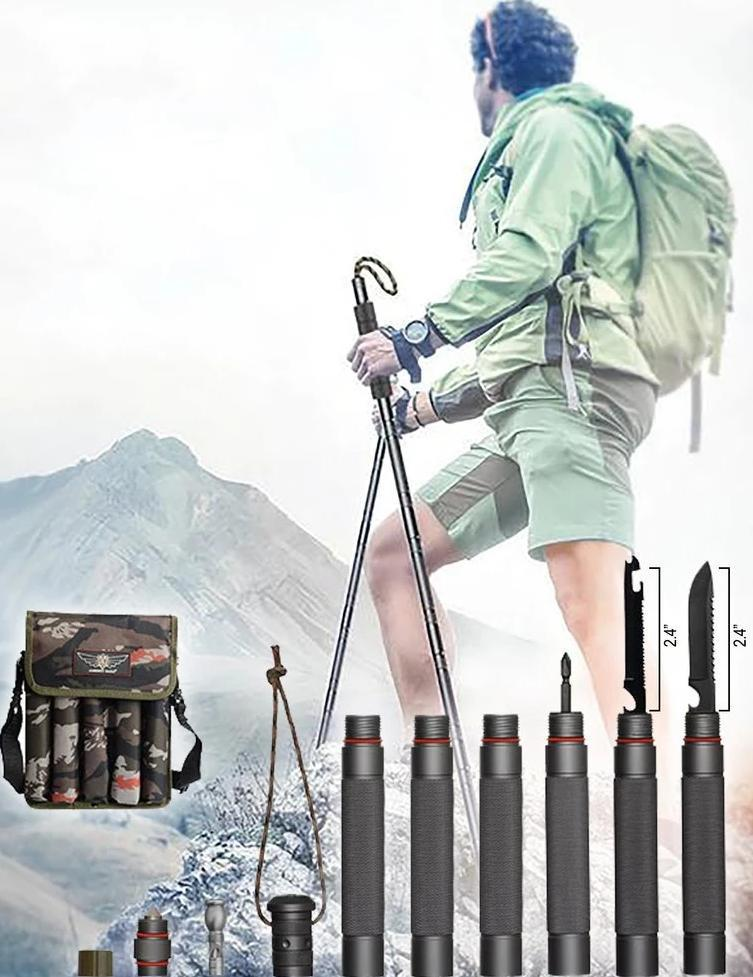 Multifunctional Tactical Walking Staff - Broadwaytrending Shop