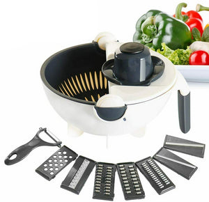 Multifunctional 9 in 1 Vegetable Cutter With Drain Basket - Broadwaytrending Shop