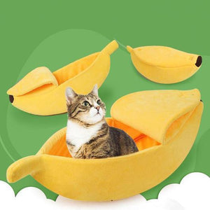 Cute Cat Banana Bed - Broadwaytrends shop