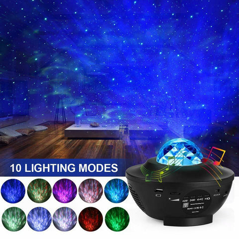 GazeLight™ - LED Star Projector, Kids Star Night Light Music Speak Light - Broadwaytrending Shop