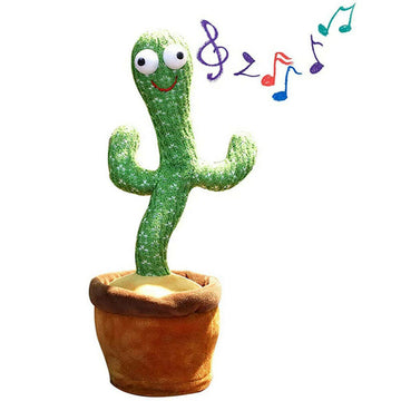 Dancing Cactus Plush Toy Shake with Song Electronic
