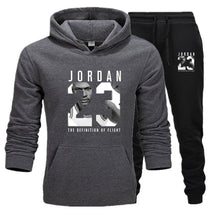Load image into Gallery viewer, New Men Hoodies Suit Jordan 23 Tracksuit Sweatshirt Suit Fleece Hoodie+Sweat pants Jogging Homme Pullover 3XL Sporting Suit Male