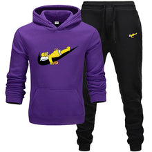 Load image into Gallery viewer, 2019 New Fashion Hoodies Men Sport Funny and cuteSweatshirt +Sweatpants Suits Casual Long Sleeve Thick Hoodie clothing Suit