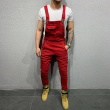 Load image into Gallery viewer, Fashion Men Overalls Jumpsuit Sleeveless Long Trousers Slim Fit Pants Skinny Jeans Causa Male Pockets Suits Clothesl