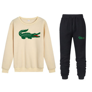 2019 spoof Funny brand men crocodile hoodies sweatshirts winter Street trend sudaderas hombre jogging Sportswearsets Tops+ Pants