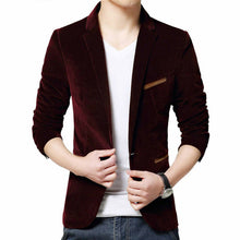 Load image into Gallery viewer, 2019 Fashion Men Slim Fit Blazer Formal Suit Jacket One Button Casual Coat Long Sleeve Dress Jacket Autumn Winter Corduroy Solid