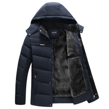 Load image into Gallery viewer, Parka Men Coats 2020 Winter Jacket Men Thicken Hooded Waterproof Outwear Warm Coat Fathers' Clothing Casual Men's Overcoat