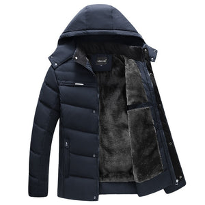 Parka Men Coats 2020 Winter Jacket Men Thicken Hooded Waterproof Outwear Warm Coat Fathers' Clothing Casual Men's Overcoat