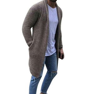 2020 Casual Spring Men Cardigans Streetwear Mens Solid Slim Fit Sweater Overcoat Male Thin Long Sleeve Knitted Sweaters